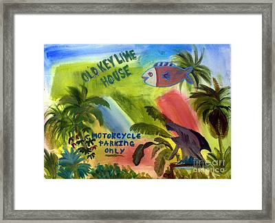 Old Key Lime House Framed Print