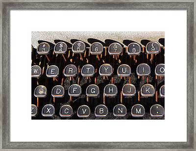 Old Keyboard Framed Print by Art Block Collections