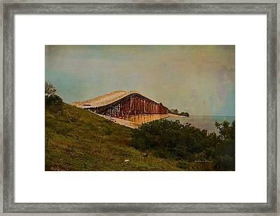 Old Keys Bridge Framed Print by Deborah Benoit