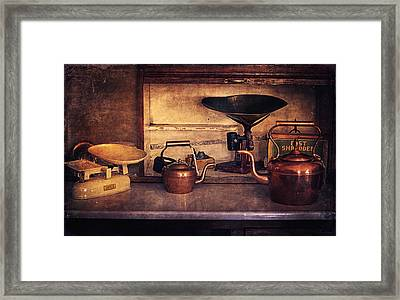 Old Kitchen Utensils Framed Print