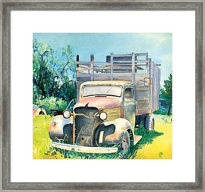 Old Kula Truck Framed Print