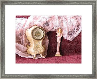 Old Lace And Time Framed Print