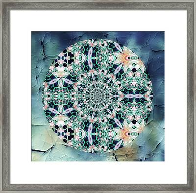 Old Lace Mandala Framed Print