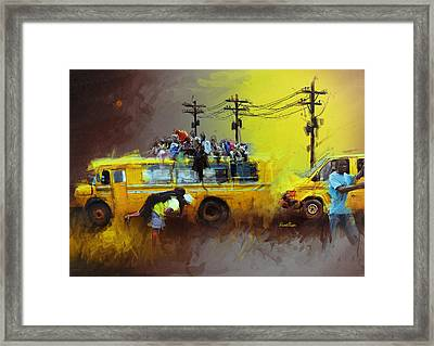 Old Lagos Framed Print by David Osagie