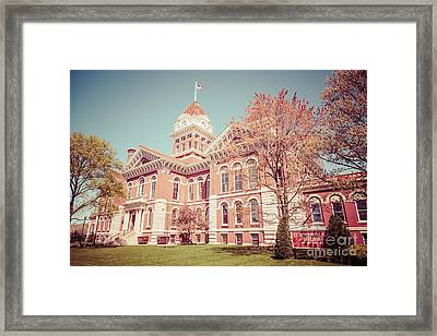 Old Lake County Courthouse Retro Photo Framed Print