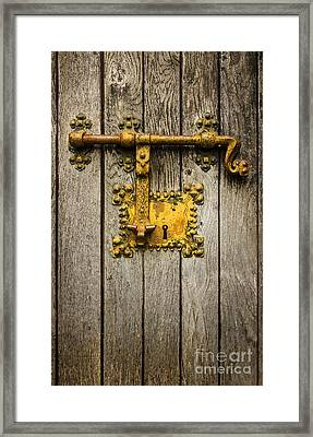 Old Latch Framed Print by Carlos Caetano