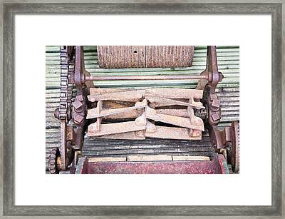 Old Lawn Mower Framed Print by Tom Gowanlock