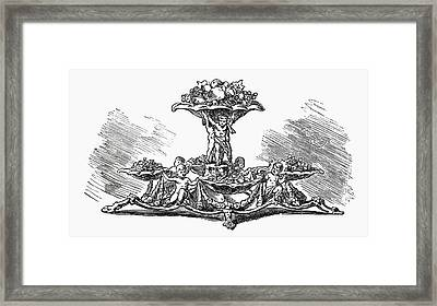 Old Layered Fruit Stand For Special Occasions (illustration) Framed Print