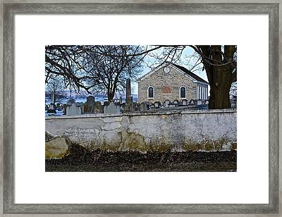 Old Leacock Presbyterian Church And Cemetery Framed Print