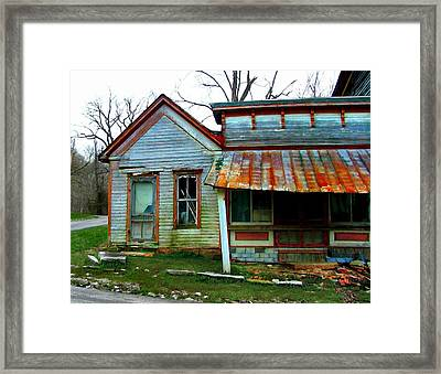 Old Leavenworth Indiana Framed Print by Julie Dant