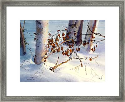 Old Leaves Framed Print by Vladimir Zhikhartsev