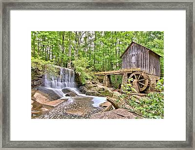 Old Lefler Grist Mill Framed Print by Gordon Elwell