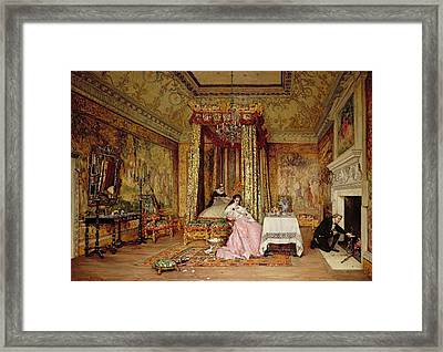 Old Letters - A Scene At Knole, 1873 Framed Print by Claude Andrew Calthrop