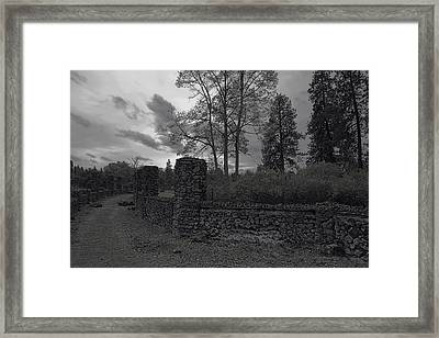 Old Liberty Park Ruins In Spokane Washington Framed Print by Daniel Hagerman