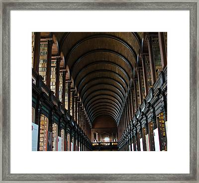 Old Library Framed Print by Mesha Zelkovich