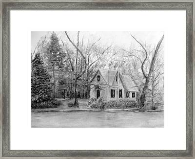 Old Library On Lake Afton - Winter Framed Print