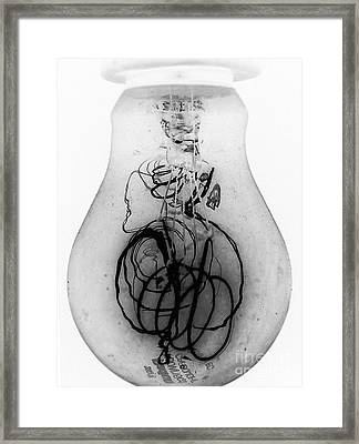 Old Light Bulb Framed Print by Judee Stalmack