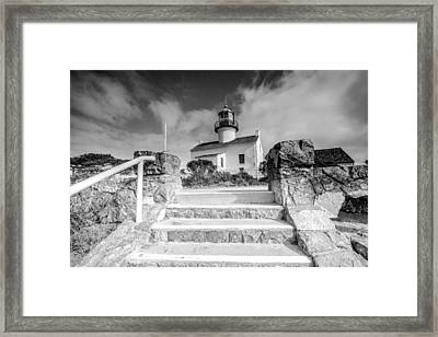 Framed Print featuring the photograph Old Light House by Robert  Aycock