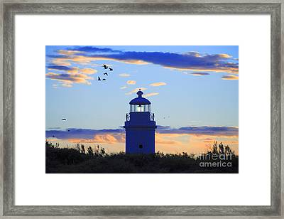 Old Lighthouse Framed Print by Bernardo Galmarini