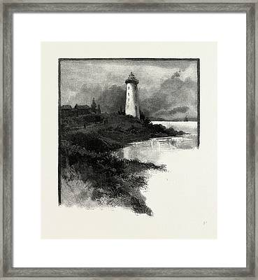 Old Lighthouse, Prescott, Canada Framed Print by Canadian School