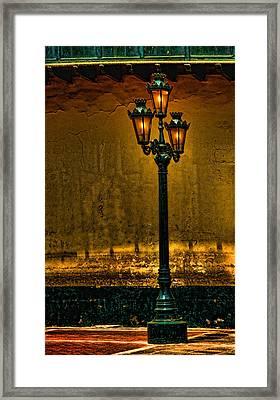 Old Lima Street Lamp Framed Print