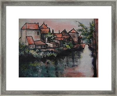 Old Little Village Framed Print