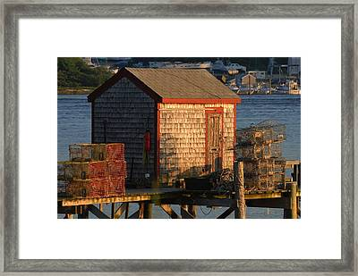 Old Lobster Shack Framed Print