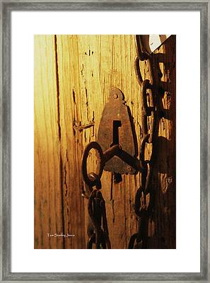 Old Lock And Key Framed Print