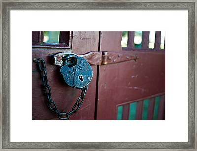 Old Lock Framed Print
