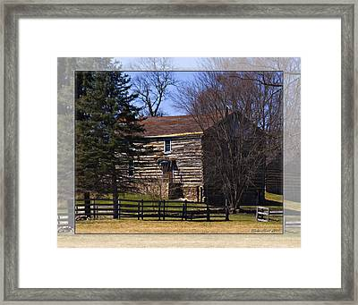 Old Log Home Framed Print