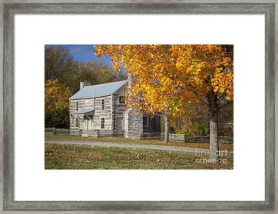 Old Log House Framed Print