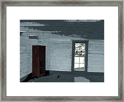 Old Log House Interior Framed Print
