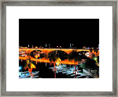 Old London Bridge Framed Print by John Potts