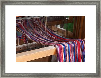 Old Loom For Yarn Framed Print by Salvatore Meli