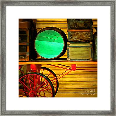 Old Luggage And Buggy 5d18420 Square Framed Print by Wingsdomain Art and Photography