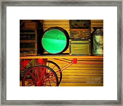 Old Luggage And Buggy 5d18420 Framed Print by Wingsdomain Art and Photography