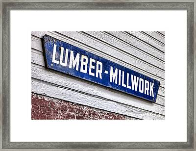 Old Lumberyard Sign Framed Print