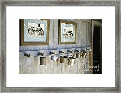 Old Lunch Pails Framed Print