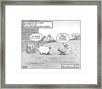 Old Macdonald Had A Farm Framed Print