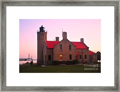 Framed Print featuring the photograph Old Mackinac Point Lighthouse by Terri Gostola