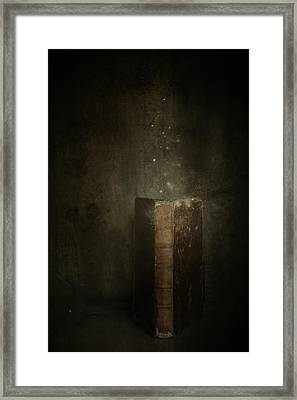 Framed Print featuring the photograph Old Magic Book by Ethiriel  Photography