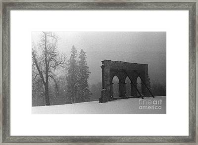 Old Main After The Fire Framed Print by Heidi Hermes