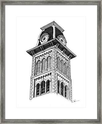 Old Main Ark Framed Print by Calvin Durham