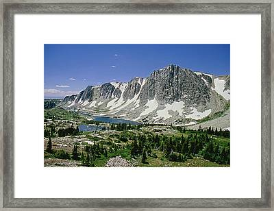 M-09702-old Main Peak, Wy Framed Print
