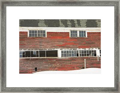 Old Maine Barn In Winter Framed Print by Keith Webber Jr