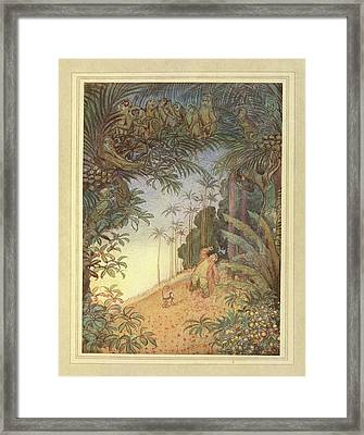 Old Man And A Monkey Framed Print