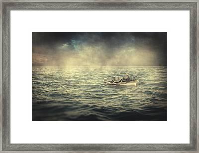 Old Man And The Sea Framed Print by Taylan Apukovska