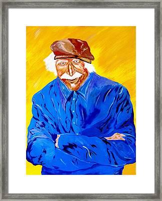 Old Man Hawk-artist Rendition Framed Print