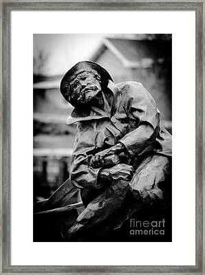 Old Man In Canal Park Framed Print