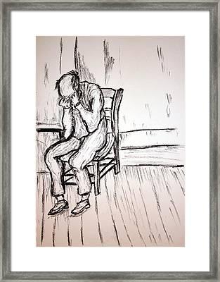 Old Man In Sorrow Framed Print by Paul Morgan